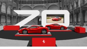 Stand Ferrari sur le Tour Auto Optic 2000