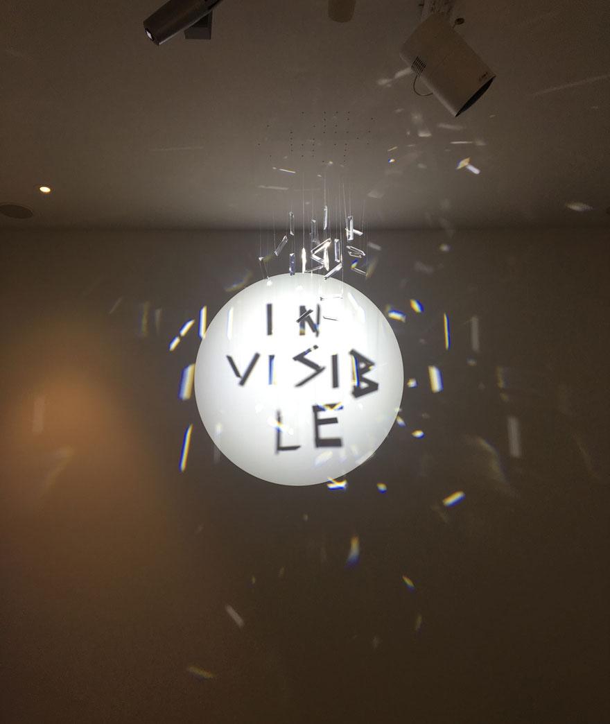 Cristaux invisibles et illuminés au salon maison & objet