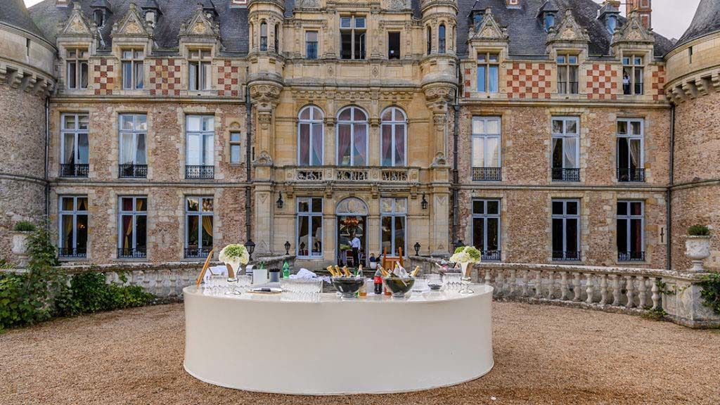 Buffet mariage château