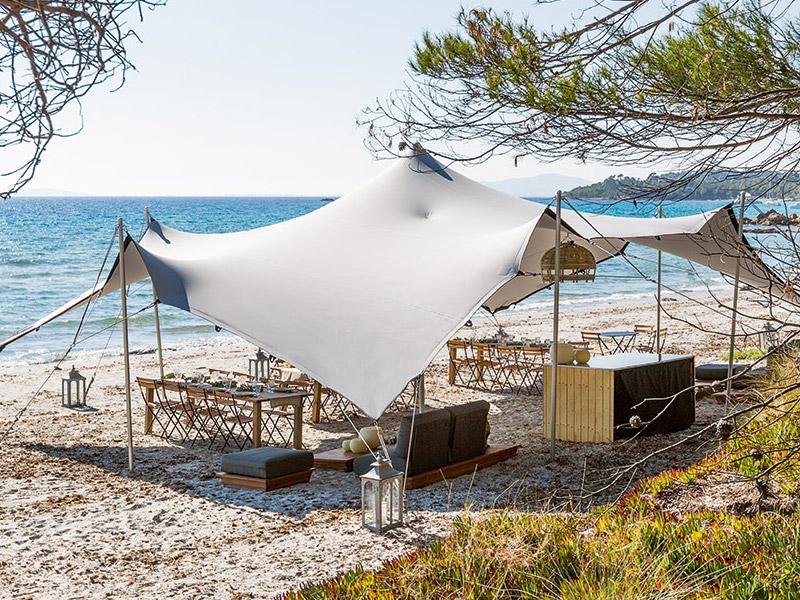 Déjeuner sur le sable - Tente personnalisée Options Décoration