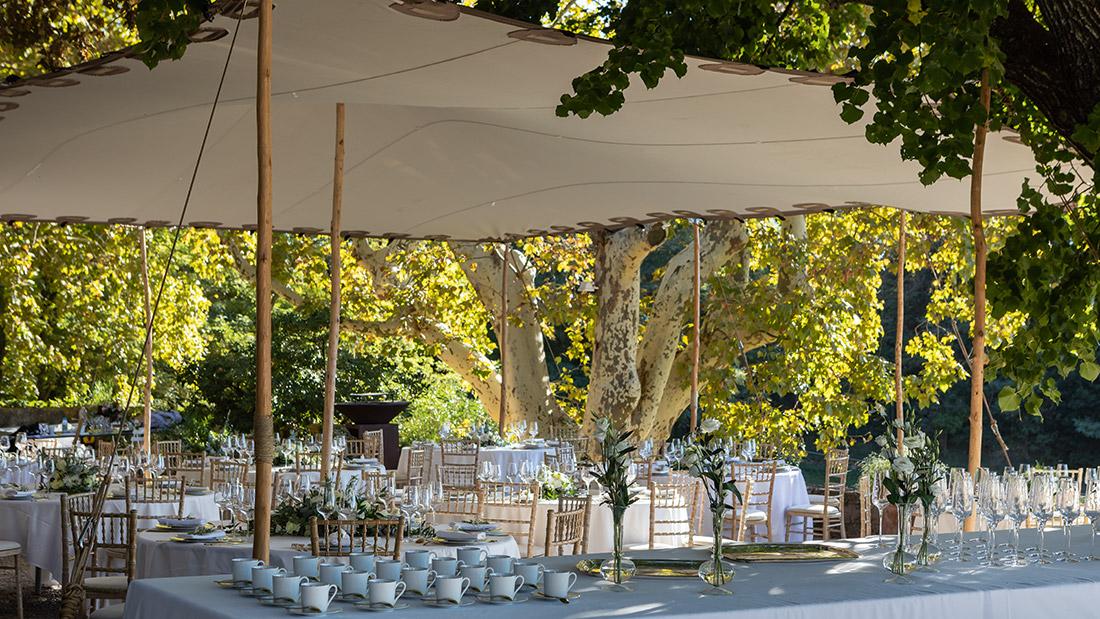 Mariage sous tente voile - Options Décoration