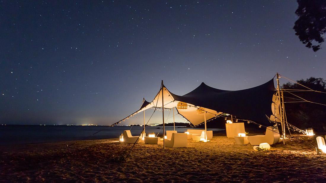 Soirée sur la plage