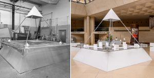 Fabrication buffet pyramide pour 30 ans Pyramide du Louvre par Options Décoration